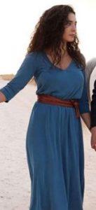 Hercai Reyyan mavi elbise