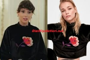 Yasak Elma Lila siyah bluz
