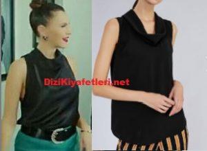 Yasak Elma Sevval sam siyah bluz markası