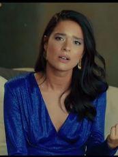 Yasak Elma Zehra Mavi elbise