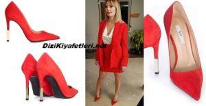 Mucize Doktor Kıvılcım kırmızı topuklu ayakkabı