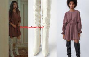 Sefirin Kızı Nare beyaz çizme markası