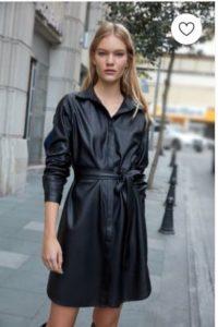 Trendyol Deri Görünümlü elbise