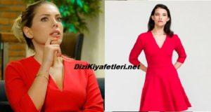 Yasak Elma Eda Ece kırmızı elbise