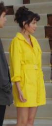Yasak Elma Lila sarı elbise