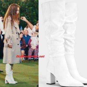 Doğduğun ev Kaderindir Neslihan Atagül beyaz çizme markası