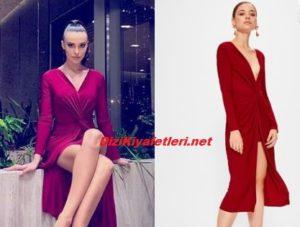 Tuvana Turkay Kırmızı elbisesi