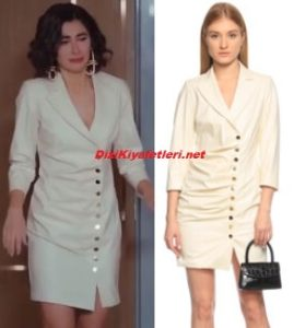 Nesrin Cavadzade beyaz elbise