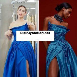 Yasak Elma Eda Ece mavi elbise