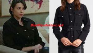 Yasak Elma Lila siyah ceket