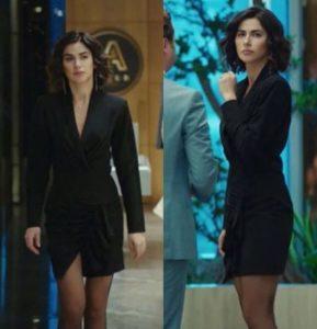 Yasak elma Şahika siyah elbise