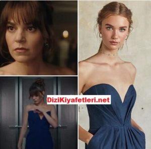 Babil Aslı Enver mavi elbisesi