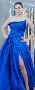 Eda Ece mavi elbise