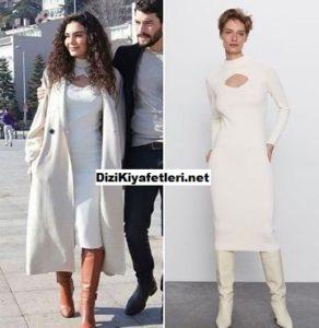 Hercai Reyyan beyaz elbisesi