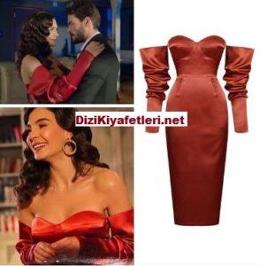 Hercai Reyyan kırmızı elbisesi