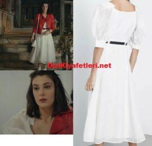 Sefirin kızı Zeynep beyaz elbisesi