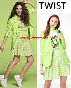 Ebru Şahin yeşil ceket