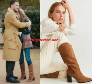 Neslihan Atagül kahverengi çizme