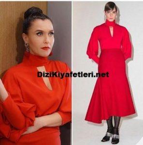 Yasak Elma Ender kırmızı elbisesi