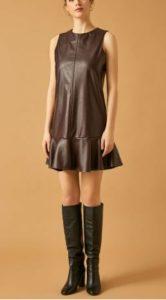 Zalim istanbul Ceren deri görünümlü elbisesi