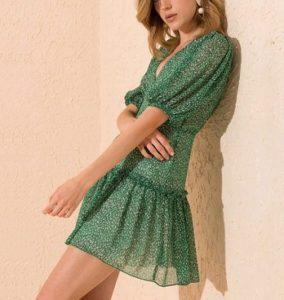 Çatı Katı Aşk Ayşen yeşil elbisesi