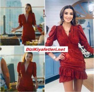 Bay Yanlış Ezgi kırmızı elbise markası