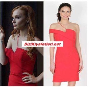 Sen Çal Kapımı Pırıl kırmızı elbisesi