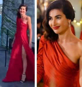 Yasak Elma Şahika kırmızı elbisesi