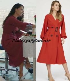 Mucize Doktor Selvi kırmızı elbise