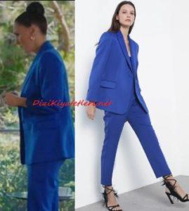 Yasak Elma Ender mavi takım elbise
