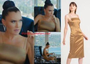 Yasak Elma Ender'in kahverengi elbisesi