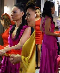 Yasak Elma Zehra pembe elbise