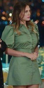 Eda Ece yeşil elbise